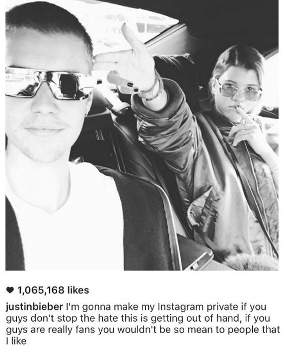 zdroj: Instagram, Justin Bieber