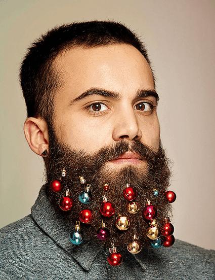 Vánoční baňky ve vousech
