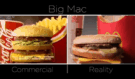 Šokující srovnání hamburgerů z reklamy McDonald a realitou