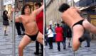 Richard Genzer ve svých tangáčích rozjel pořádně hříšný tanec v centru Prahy
