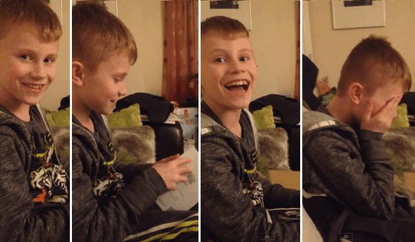 Malý chlapec dostal na Vánoce vytoužený dárek, jeho reakce je naprosto kouzelná