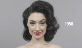 100 let ženské krásy v jednom videu: Podívejte na to, jak se během let měnila