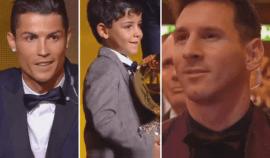 Úžasný moment! Když procházel Messi kolem Ronaldova syna, stalo se něco naprosto nečekaného