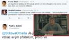 Andrej Babiš na svém Twitteru nejprve setřel Ornellu, pak se vyjádřil v drsném proslovu k Válce v Evropě