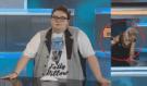 To už vážně přehnal! Thug life: Tlusťoch FattyPillow postříkal moderátorku v přímém přenosu
