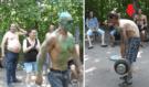 Bláznivý kulturista vyrazil jako HULK zvedat s českými bezdomovci těžké váhy: Podívejte na tu hrůzostrašnost!